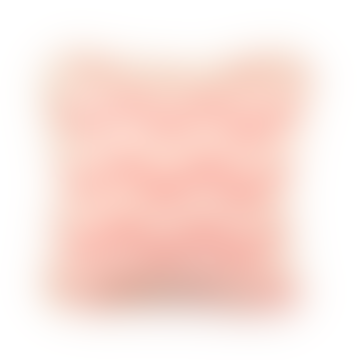 Mini Coral Pink Zig Zag Cushion