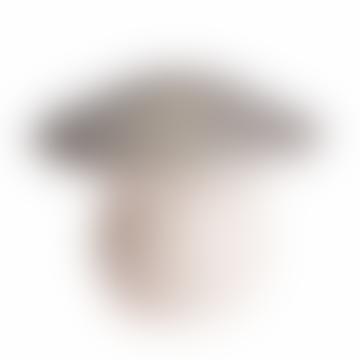 Medium Silver Mushroom Lamp