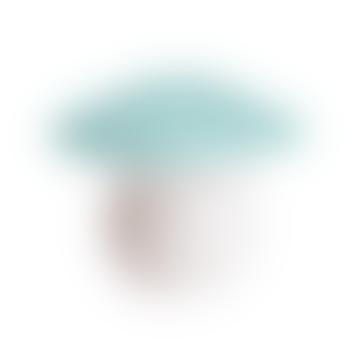 Medium Light Blue Mushroom Lamp