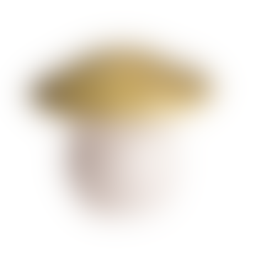 Medium Gold Mushroom Lamp