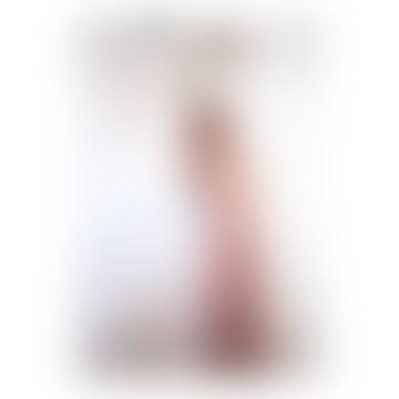 SEE U SOON Beige Linen Blend Midi Striped Dress