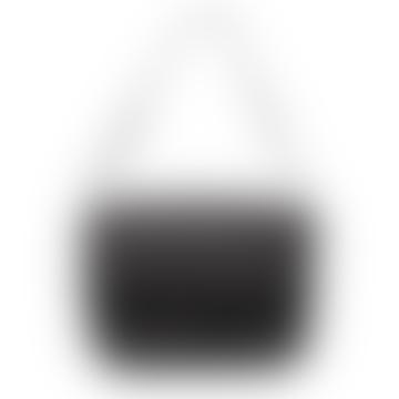 Gina, sac noir avec bandoulière ajustable cachée