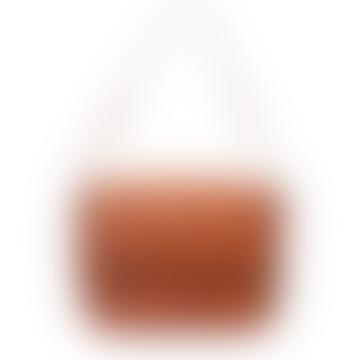 Gina, sac de couleur cognac avec bandoulière ajustable cachée