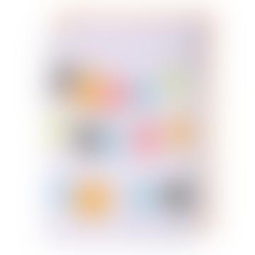 Carte guirlande joyeux anniversaire multicolore