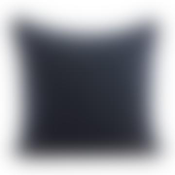 Velvet cushion 50x50cm in petrol blue