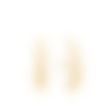 Gold Luxe Lobe Hook Stud Earrings