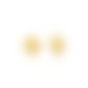Gold Crush Mini Square Stud Earrings