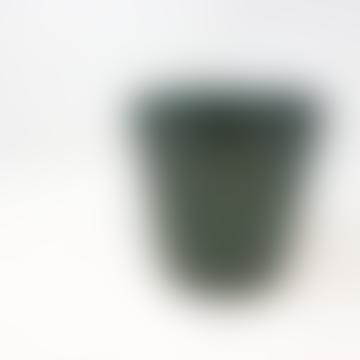 Forest Dark Aqua Green Ceramic Pot - Small