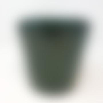 Forest Dark Aqua Green Ceramic Pot - Large