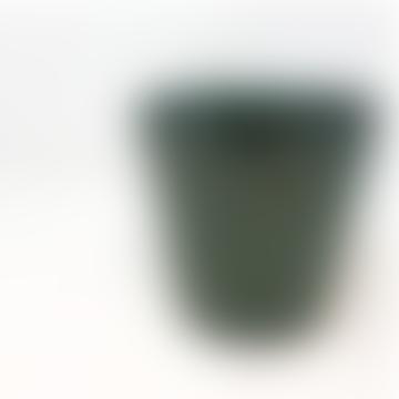 Forest Dark Aqua Green Ceramic Pot - Medium