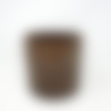 Wikholm Form Brown Mottled Ceramic Pot - Medium