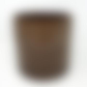 Wikholm Form Brown Mottled Ceramic Pot - Large