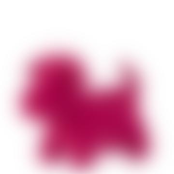 Pink Doorstop Velvet Dog