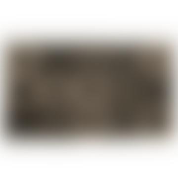 Tapis de porte patchwork gris
