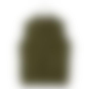Olive Green Padded Vest Coat