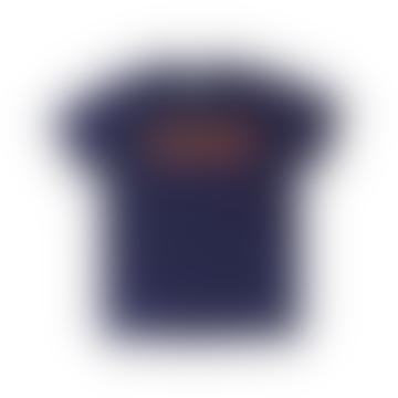Text T Shirt Navy