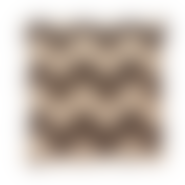 Hubsch Black Beige Wool and Jute Kilim Cushion Cover