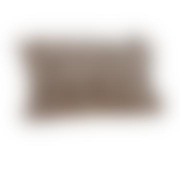 Cornucopia Grey Rectangular Pom Pom Cushion
