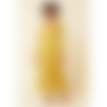 Lemon Florentina Chiffon V-neck Dress