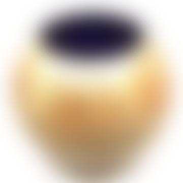Ocker handbemalte Globusvase