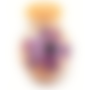 Mini Gelb Lila Blumendruck Gilazi Vase