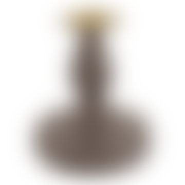 14cm Khaki Metal Candle Holder
