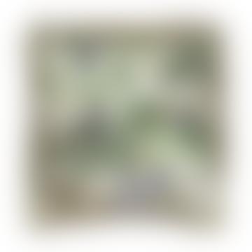 45x45cm White Toucan Jungle Velvet Cushion