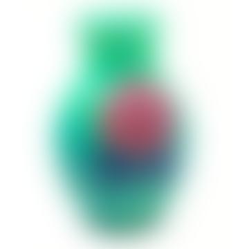 Mini Seegras grüne und rote Blumenvase