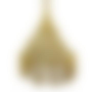 Ocher Macrame Hanging Lamp