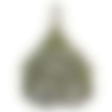 Green Macrame Hanging Lamp