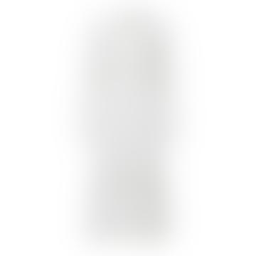 Selected Femme White Feminine Lace Trims Long Sleeved Midi Dress