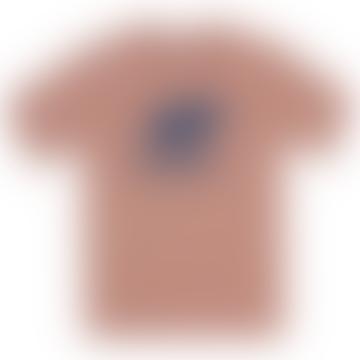 Basic Logo T Shirt Muted Clay Navy
