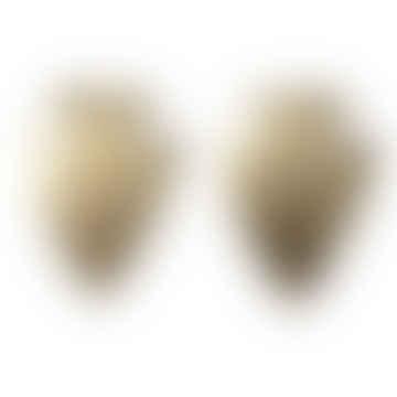CollardManson Arrowhead Earrings Gold Plated
