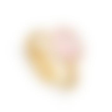 SVP Jewellery Rose Quartz Atomic Midi Adjustable Ring