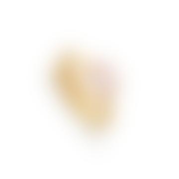 Gold Rose Quartz Atomic Mini Adjustable Ring