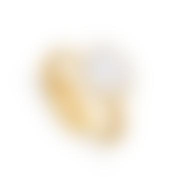 Gold Rainbow Moonstone Atomic Midi Adjustable Ring