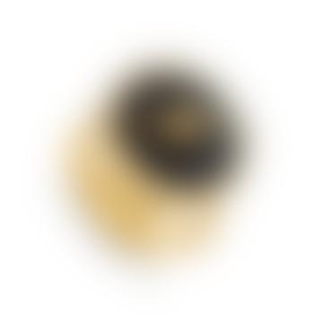 Stella Lightning Bolt Black Quartz Adjustable Ring