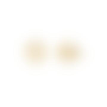 Gold Brow Chakra Stud Earrings