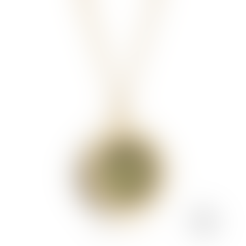 Gold August Birthstone Amulet Necklace