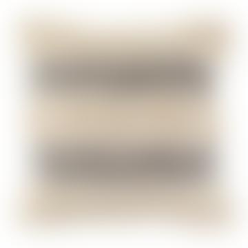 Coussin à rayures touffetées Scandi Boho