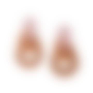 Wolf & Moon Brigitte Earrings Pink Orange