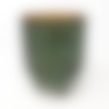 Metallic Green Footed Pot