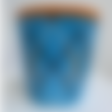 Blauer Blumentopf/Vase