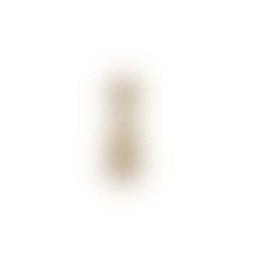 Jahi Brass Candlestick - Brushed Gold - Large