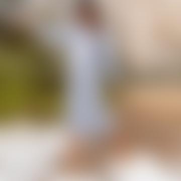 Steph Sweatshirt Dress Grey Marl with White Star Embellishment