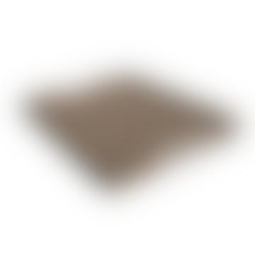 Mini Taupe Leder bedeckt Victor Tray