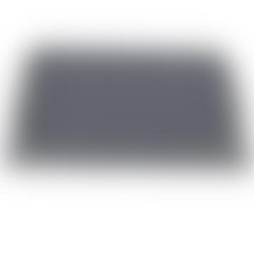 Große rechteckige Lederschale mit Graphite Defile