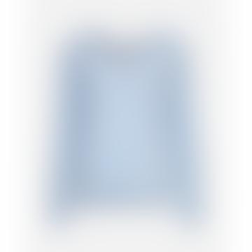 Moss Copenhagen Cashmere Blue Karter Alpaca V Neck Pullover