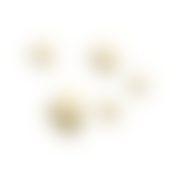 Muuto Set of 5 Brass Dots Metal Hooks