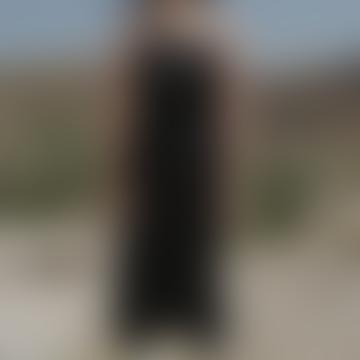 Black Yumi Apron Dress